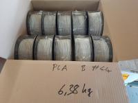 PLA B-Ware Box #44: 6.38kg PLA Hellgrau - Made in Europe