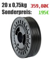 5/10/20 Spulen 750g PLA Filament   schwarz   Ø 1,75mm   Made in Germany (Hersteller: Simona AG)
