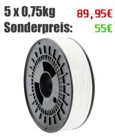 5/10/20 Spulen 750g PLA Filament | weiss | Ø...