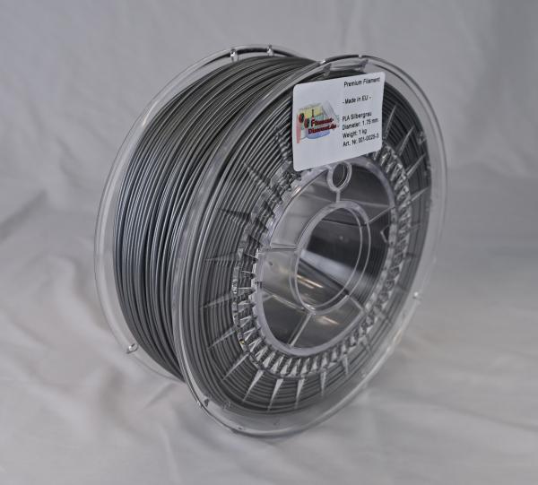 FilamentDiscount Premium PLA Filament | silbergrau | Ø 1,75mm | 1kg | Made in EU